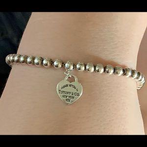 Tiffany & Co. Mini Heart Sterling Bead Bracelet
